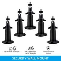 AxPower Security Metal Wall Mount Adjustable Indoor/Outdoor Aluminium Alloy Camera Mount Compatible with Arlo, Arlo Pro 3, Arlo Pro 2, Arlo Ultra, Ring Stick Up Cam (5 Pack, Black)