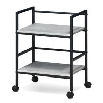 FURINNO Modern Lifestyle Storage Cart with Casters, Stone