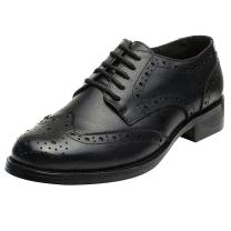 rismart Women's Brogue Pointed Toe Wingtips Work&Wedding Dress Leather Oxfords Shoes