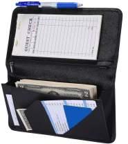 "4.7"" X 9"" Serving Book with Zipper Pocket and Magnetic Closure Server Booklet Waitress Book Server Book with Money Pocket Waitstaff Organizer Fit Server Apron Waiter Book Wallet High Volume Pocket"