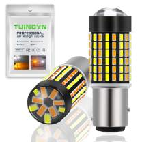 TUINCYN 1157 BAY15D Switchback LED Turn Signals Bulb White/Amber Dual Color Switch Back Extremely Bright 120-EX Chipsets 1016 1034 7528 2057 2357 6500K DRL LED Bulb(Pack of 2)