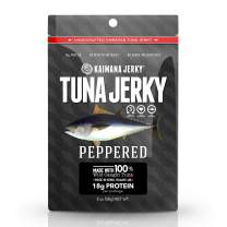 Kaimana Wild-Caught Ahi Tuna Jerky - Peppered | Rich in Omega-3s & High in Protein | All-Natural & Organic Fish Jerky (2 oz)