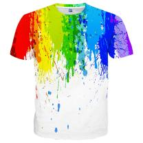 Yasswete Unisex 3D Printed Short Sleeve Top T-Shirts