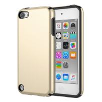 MoKo Case Fit iPod Touch 2019 Released iPod Touch 7/ iPod Touch 6/ iPod Touch 5, 2 in 1 Shock Absorbing TPU Bumper Ultra Slim Protective Case with Hard Back Cover - Gold