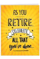 NobleWorks - As You Retire - Business, Teacher, Coworker Retirement Card with Envelope (Big 8.5 x 11 Inch) J6875RTG