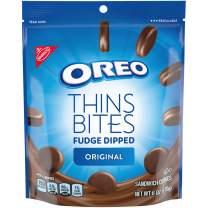OREO Thins Bites Fudge Dipped Chocolate Sandwich Cookies, Original Flavor, 1 Resealable 6 oz Pack