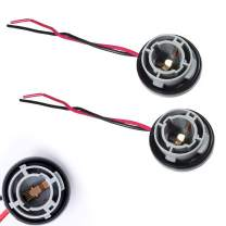 Xotic Tech 2pcs 1157 2057 2357 7528 Metal Socket/Base w/Pigtail Wire Harness Extension Compatible with Turn Signal, Brake/Tail Lights or LED Bulbs Retrofit, etc