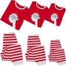 Family Christmas Matching Pajamas Sets for Kids and Couples Holiday Sleepwear Long Sleeve Tee and Pants Loungewear