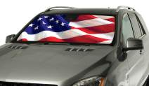 Intro-Tech TT-16-US Silver Custom Fit American Flag Windshield Sunshade for Select Toyota Highlander Models