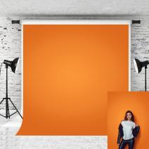 Kate 10x10ft Orange Backdrops for Photographer Photography Pure Color Solid Photo Background Portrait Studio Prop Baby Shoot