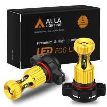 Alla Lighting 2504 PSX24W LED Fog Lights Bulbs Newest 3000lm Extreme Super Bright 12276, 8K Ice Blue