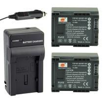 DSTE 2X BP-808 Battery + DC26 Travel and Car Charger Adapter for Canon FS406 HFM400 HF100 M300 S100 S200 FS36 FS37 HF200 HFS11 HF100 HF20 HG21 Camera as BP-809 BP-819 BP-827