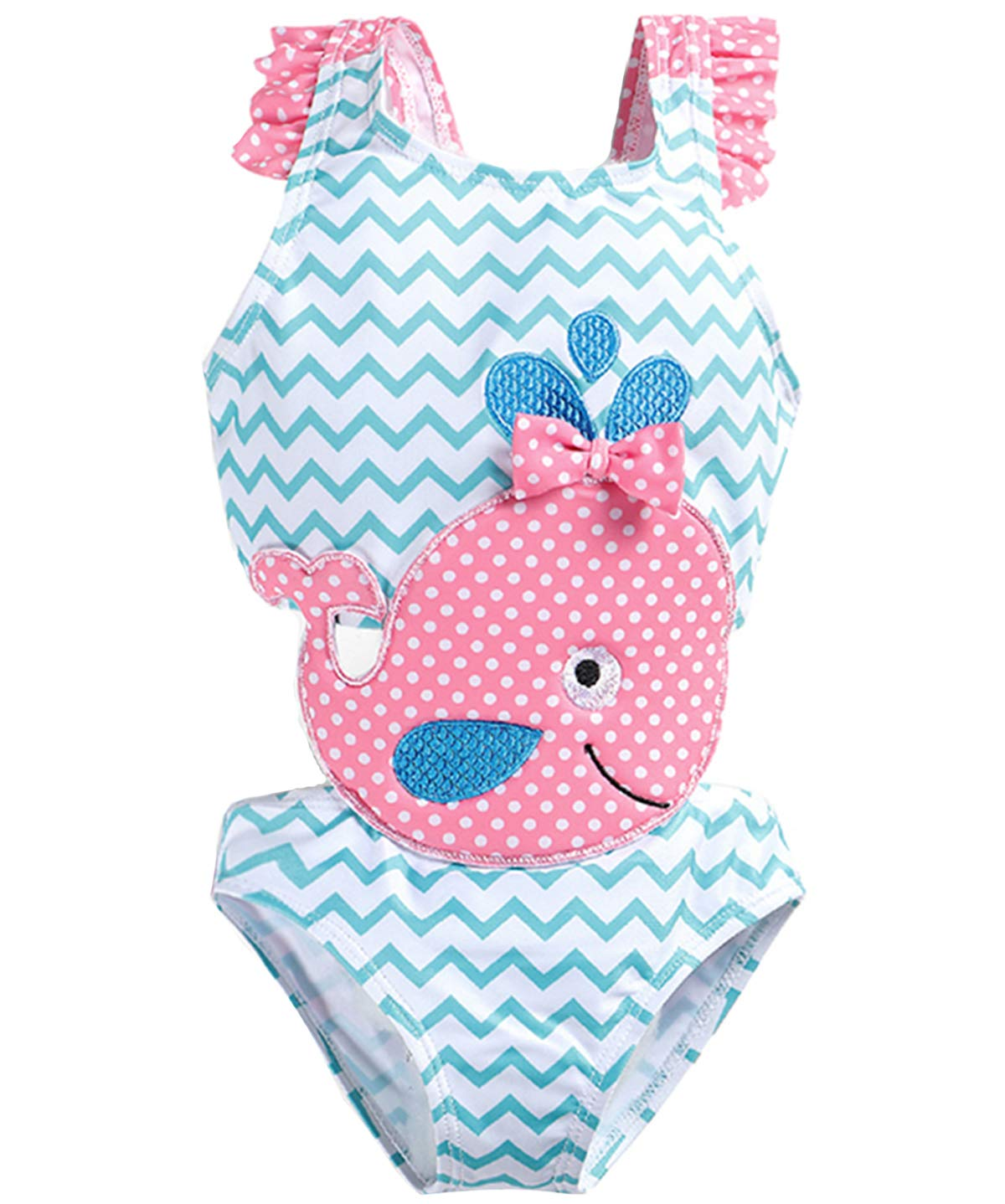 Coralup Baby Girls One-Piece Swimsuit Cute Swimwear Flamingo Mermaid Bathing Suit Outfits
