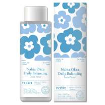 Nabia Okra Daily Balancing Facial Toner with Okra, Tea tree, Hyaluronic acid, Natural Tea tree scent. 4.05 fl oz