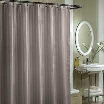 """EXCELL Home Fashions Damask Stripe Fabric Shower Curtain Liner Water-Repellent Washable Use as Shower Curtain Liner or Decorative Shower Curtain 70"""" x 72"""" Grey"""