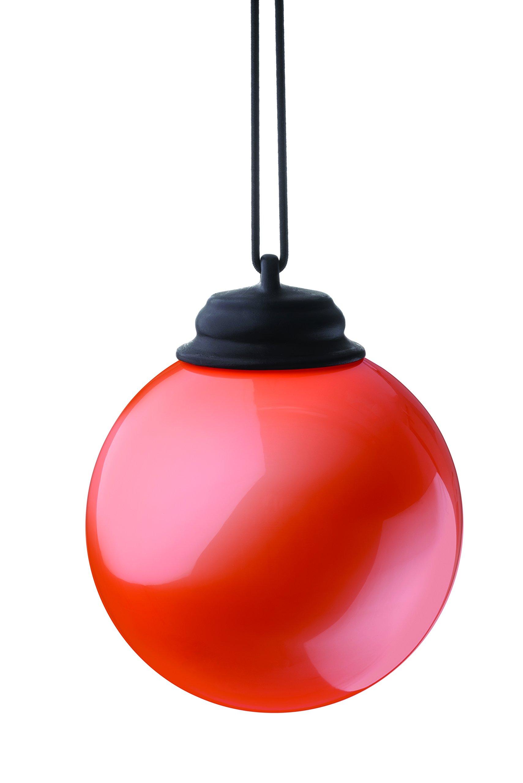 "Xodus Innovations WP430 Battery Powered Hanging Decorative Outdoor Led Pulsing Globe, 5"", Orange"