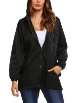 Beyove Women's Hooded Outerwear Hiking Waterproof Jacket Rain Coat