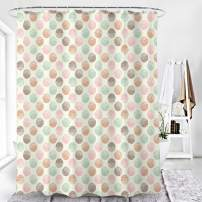 AmazerBath Fabric Shower Curtain, Macarons Pattern Polyester Fabric Shower Curtains Decorative Curtains for Bathroom Hotel Quality, 72 X 72 Inches