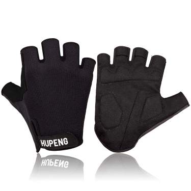 Anti-Slip Shock Absorbing Padded Fingerless Cycling Gloves for Men//Women HUPENG Mountain Bike Gloves