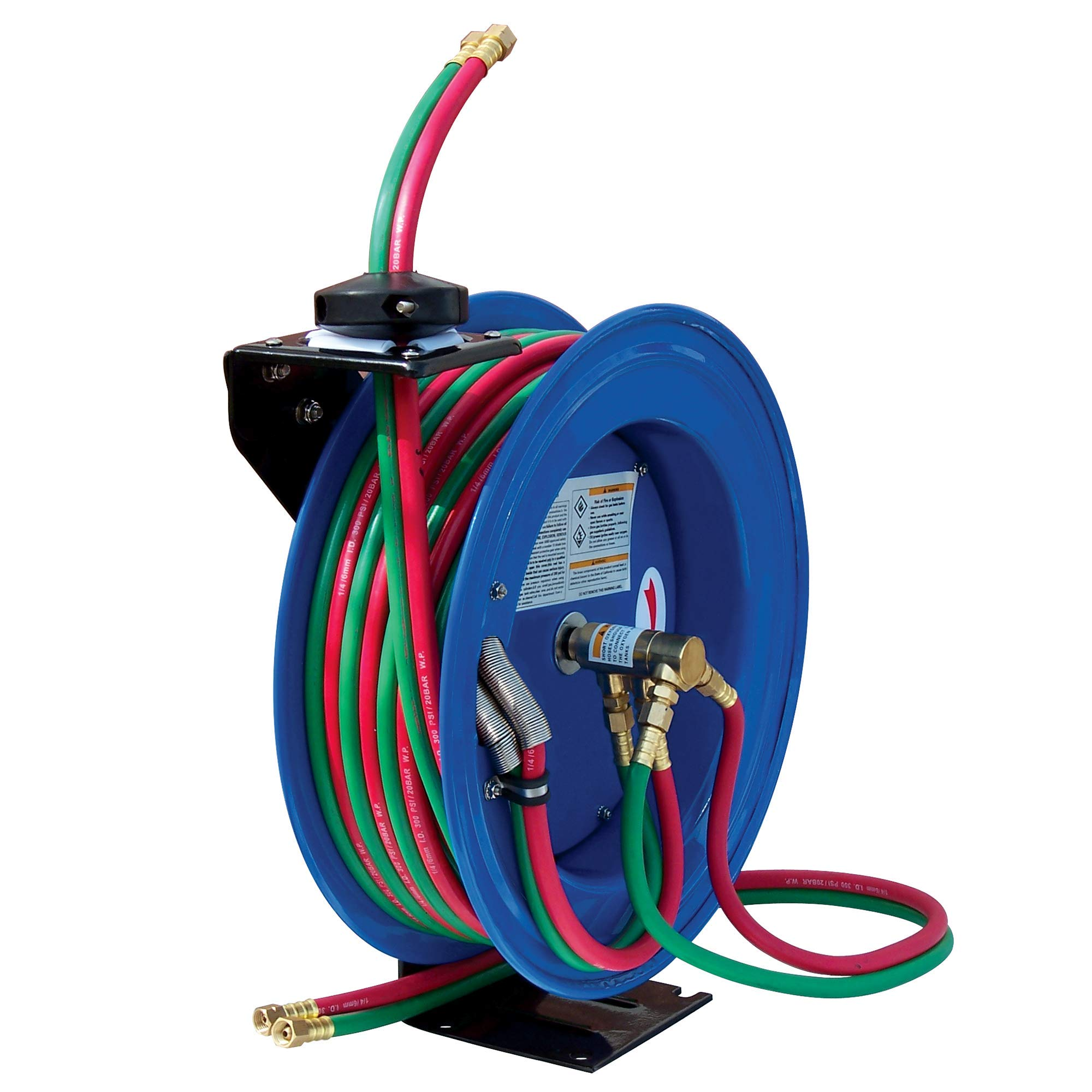 Cyclone Pneumatic CP3100 Retracable Air Hose Reel, Blue