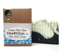 Dead Sea Salt and Activated Charcoal Soap, Cold Process All Natural