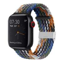 SIXRARI Braided Solo Band Compatible with Apple Watch 38mm 40mm 42mm 44mm, Soft Stretch Loop with Adjustable Sport Elastics Strap Compatible with iWatch Series SE 6/5/4/3/2/1
