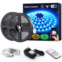 Novostella Smart RGB LED Strip Lights Kit, 20ft Wireless Flexible Color Changing 5050 LEDs, Waterproof RF Remote 12V Dimmable LED Tape for Home Lighting, Working with Alexa Goolge Assistant, UL Listed