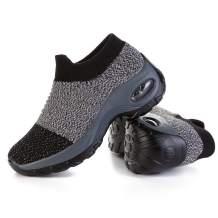 JOINFREE Womens Walking Shoes Slip-on Walking Sneakers Non-Slip Knit Nurse Shoes Comfortable Work Shoes