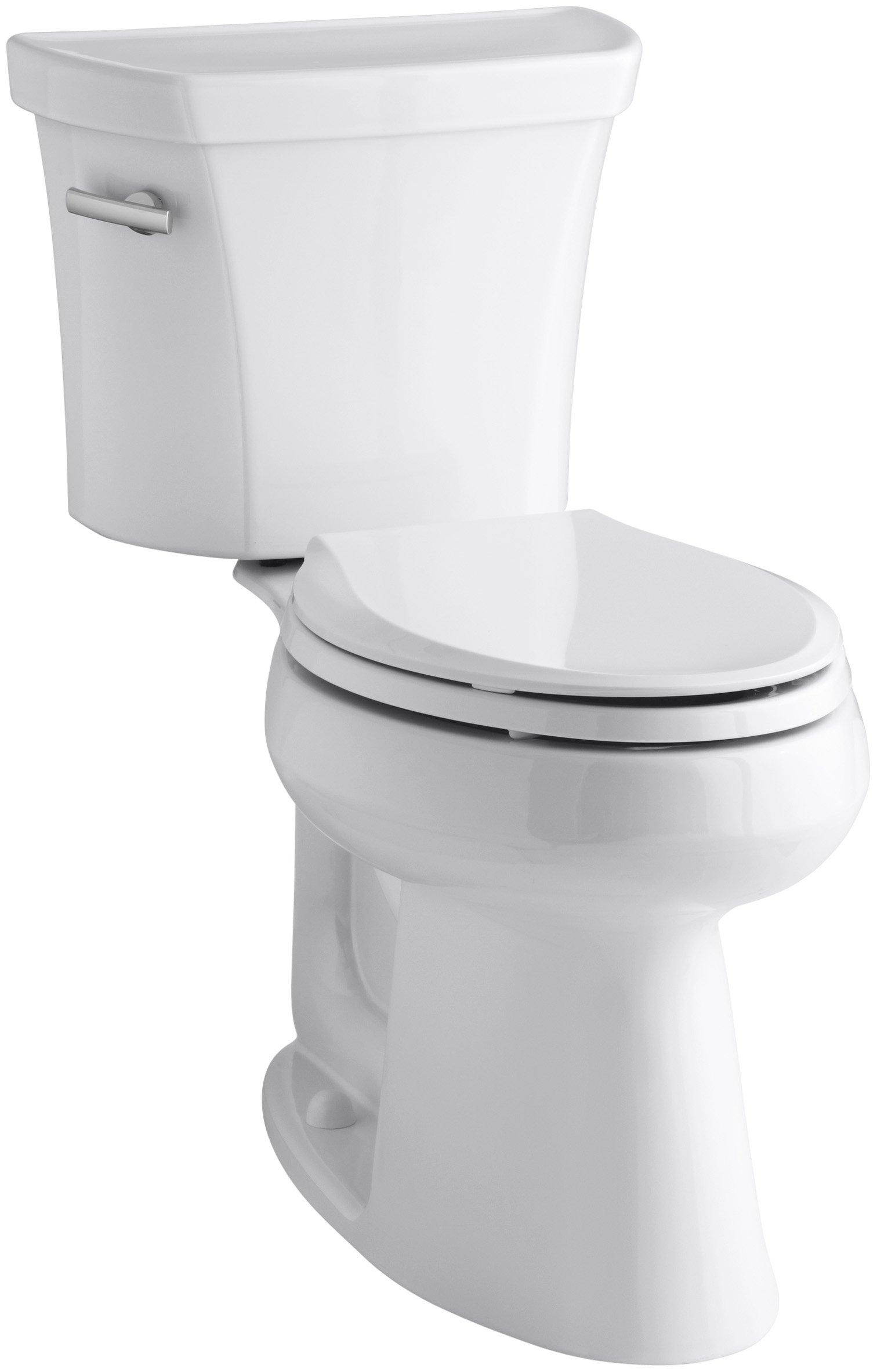 Kohler K-3889-0 Highline Comfort Height 1.28 gpf Toilet, 10-inch Rough-In, White