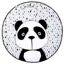Play Pouch Play Mat Bag, Soft Baby Play Mat with 100% Cotton Inner, Large Comfortable Floor Activity Mat and Toy Storage Bag 2 in 1, Stylish Play Mat Bag for Toddlers and Infants, Panda