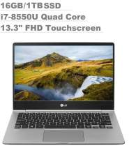 "2020 LG Gram 13"" Full HD (1920x1080) IPS Touchscreen Thin and Light Business Laptop (Intel Quad-Core i7-8550U, 16GB RAM,1TB SSD) Fingerprint, Backlit Keyboard, Type-C, HDMI, Windows 10 Pro"
