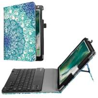 Fintie Keyboard Case for iPad 9.7 Inch 2017 / iPad Air 2 / iPad Air - Premium PU Leather Folio Stand Cover w/Removable Wireless Bluetooth Keyboard for Apple iPad 2017, iPad Air 1, Emerald Illusions