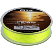 Goture Fishing Line Fly Line Dacron Backing//8 Strands Braided//for Trout Bass Pike in The Saltwater Freshwater 20lb 30lb 109yd Orange White Yellow White/Black Yellow/Black