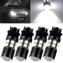 cciyu 4x 3157 White 6000K Projector Cree+12 SMD Chip LED Lights Bulbs for 3157 Standard Socket Front Turn Signal Light Fit 2014-2015 Honda Pilot