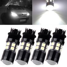cciyu 4x 3157 White 6000K Projector Cree+12 SMD Chip LED Lights Bulbs for 3157 Standard Socket Front Turn Signal Light Fit 2014-2015 Honda Pilot