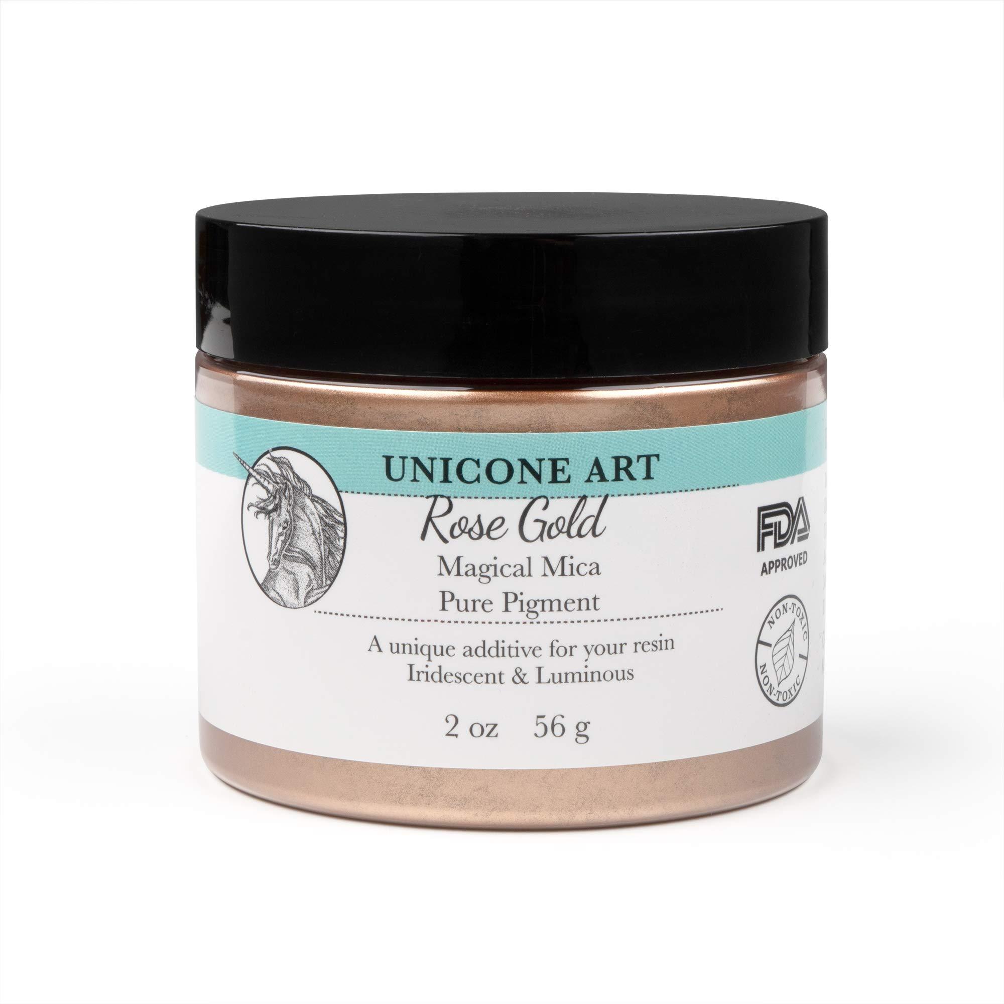 Rose Gold Magical Mica Pigment Powder, Unicone Art - Multi-Use