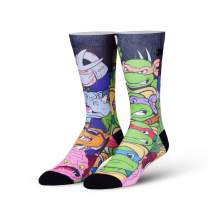 Odd Sox, Unisex, Teenage Mutant Ninja Turtles, Cartoon, Crew Socks, Novelty Fun