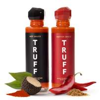TRUFF Hot Sauce and Hotter Sauce 2-Pack Bundle, Gourmet Hot Sauce Set, Black Truffle and Chili Peppers, Gift Idea for the Hot Sauce Fans, An Ultra Unique Flavor Experience (Black/Red, 6 oz, 2 count)
