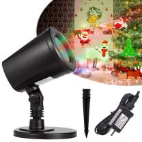 FANLIDE Christmas Projector Lights,Indoor Outdoor Waterproof LED Projection Lamp,Auto-Shifting Images and Switchable Pattern,GIF Lighting Effect,Perfect for Christmas Party Bedroom Lawn Patio Garden