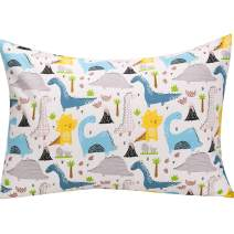 UOMNY Kids Toddler Pillowcases 1 Pack 100% Cotton Pillow Cover Pillowslip Case Fits Pillows sizesd 13 x 18 or 12x 16 for Kids Bedding Pillow Cover Baby Pillow Cases boy Dinosaur Pillow Cases