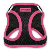 """Voyager Step-In Air Dog Harness - All Weather Mesh, Step In Vest Harness for Small and Medium Dogs by Best Pet Supplies - Pink, Medium (Chest: 16"""" - 18"""") (207T-PK-M)"""