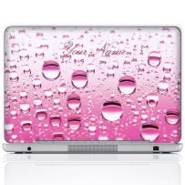 Meffort Inc Personalized Laptop Notebook Notebook Skin Sticker Cover Art Decal, Customize Your Name (12 Inch, Pink Water Bubbles)