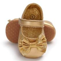 ENERCAKE Infant Baby Girls Mary Jane Flats Non-Slip Soft Soled Toddler First Walkers Crib Shoes Princess Dress Shoes