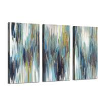 Abstract Texture canvas wall art: Woods Gold Foil Painting Pictures for Wall Decor (26''x16''x3 Panels)