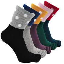 Womens Toe Sock Cotton Five Finger Running Ankle Novelty Socks
