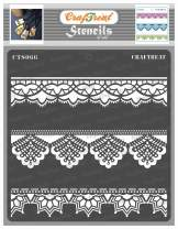 CrafTreat Lace Stencils for Painting on Wood, Canvas, Paper, Fabric, Floor, Wall and Tile - Lace - 6x6 Inches - Lace Stencil - Reusable DIY Art and Craft Stencils for Home Decor - Lace Border Stencil