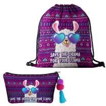 Amycute 2 PCS Alpaca Drawstring Bags, Llama Gift Bag,Reusable Bag, Alpaca Backpack,Lightweight Travel Backpack,Birthday Party Supplies