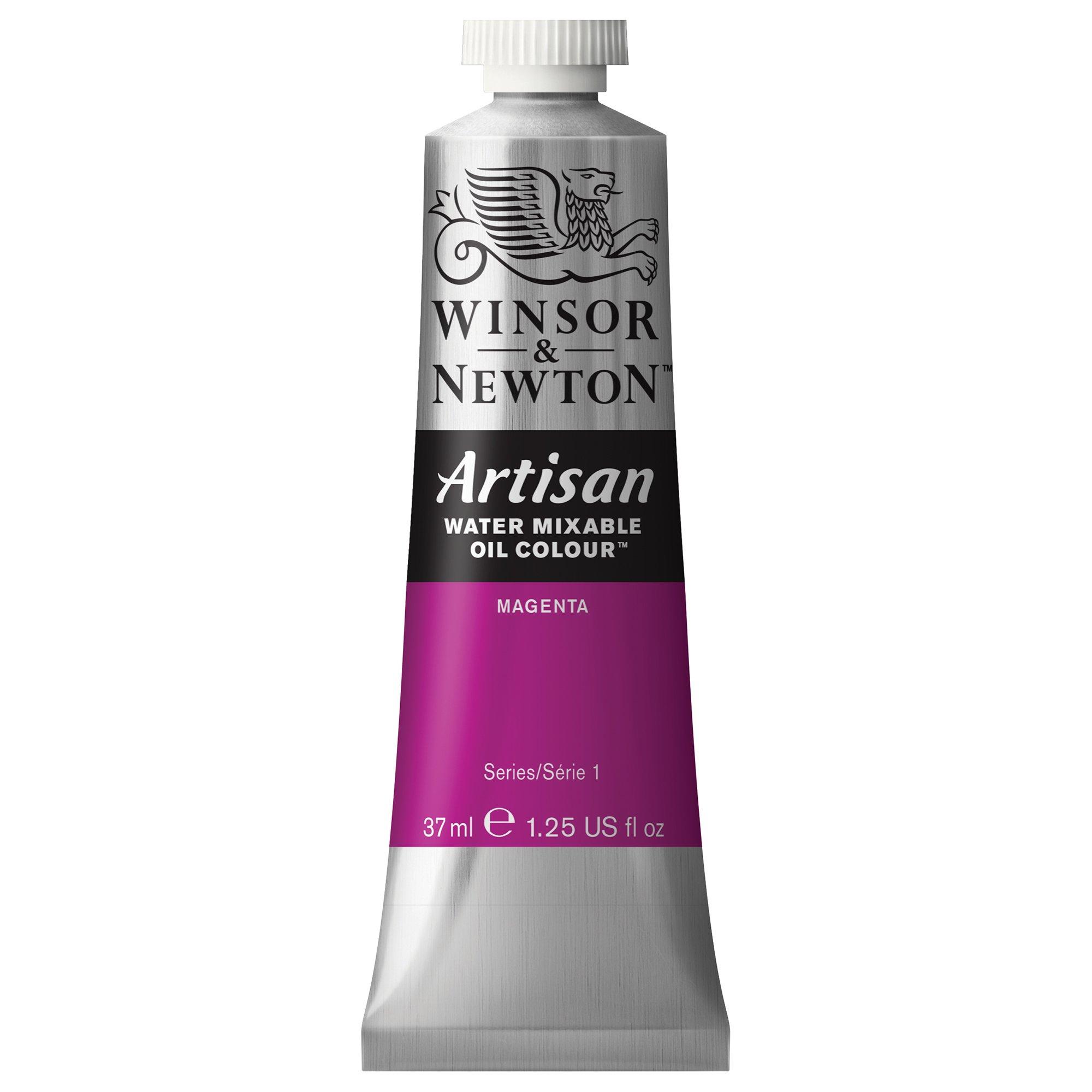 Winsor & Newton 1514380 Artisan Water Mixable Oil Colour, 37ml Tube, Magenta, 37-ml