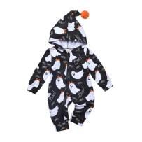 Fioukiay Baby Girls-Halloween-Hoodie-Romper-One-Piece Zipper Jumpsuit Unisex Pajamas Clothes