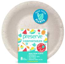 Preserve 72103 Compostable Bowls Kitchen Supplies, Natural